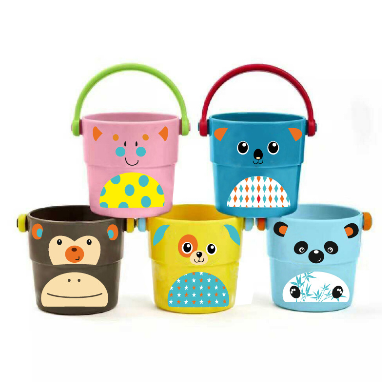 Cartoon Small Bucket Kids Baby Bath Toys For Kids Small Watering Toy Bathing Water Toys Badspeeltjes Baby Games