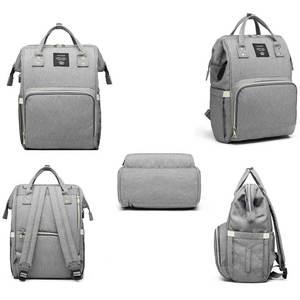 Image 4 - Lequeen USB Mummy Maternity Nappy Bag Brand Large Capacity Baby Bag Travel Backpack Designer Nursing Bag for Baby Care