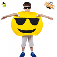 Boys Cool funny emoji costumes kids Children fancy mascot Christmas halloween cute face cosplay costume suit for role paly