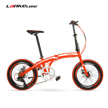 QF600G 20 Inches Folding Bicycle, 7 Speeds Folding Bike, High-carbon Steel Frame, BMX, Both Disc Brakes