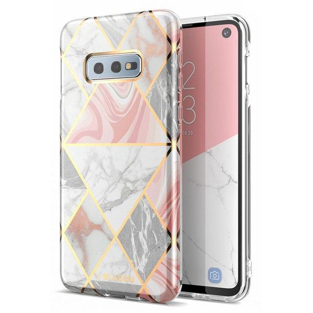 For Samsung S10e Case 5.8 inch i Blason Cosmo Lite Stylish Premium Hybrid Slim TPU Bumper Marble Cover with Camera Protection