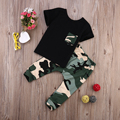 Newborn Baby Boys Outfits T-shirt + Long Pants Camouflage Clothes Sets Toddler Boy Clothing Sport Costumn 0-3 Years