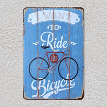 1 pc Cycling Ride Bicycle Tin Plate Sign plate wall man cave Decoration Metal Art Dropshipping Poster metal
