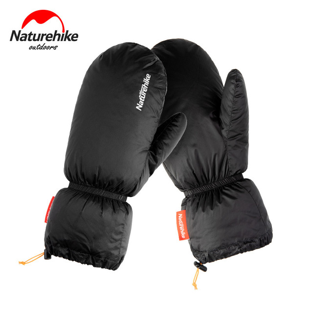 Naturehike White Goose Down Gloves Warm Portable Winter Sport Waterproof Camping Hiking Cycling Motorcycle Bicycle Ski Gloves