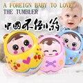 Brinquedo do bebê grande tumbler boneca aceno bebê 0-1 anos 3-6-9-12 meses mais cedo puzzle