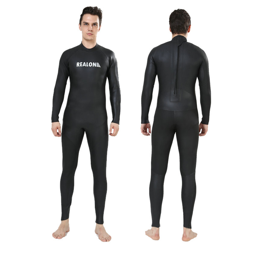 REALON Wetsuits 3mm CR Neoprene Smooth skin Lady body Suit Full Body Diving Snorkeling Swimming Scuba Mens Surfing Costumes car auto boot liner cargo mat tray rear trunk sticker for audi a4 s4 rs4 sedan 2002 2008 1pcs high quality car accessory covers