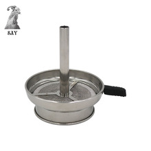 SY 1pc Metal Shisha Charcoal Holder with Handle Narguile Sheesha Water Pipe Chicha Kaloud Hookah Bowl Accessories