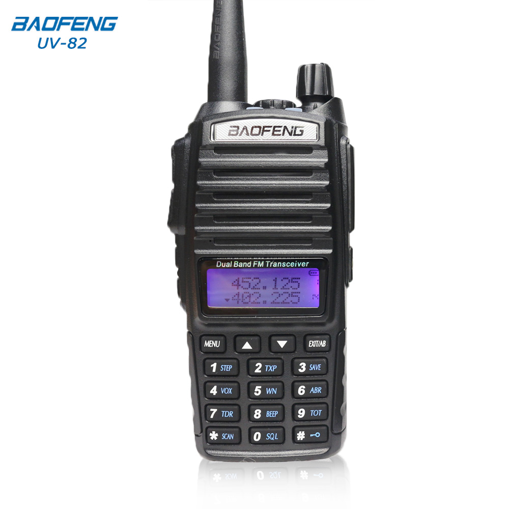 Baofeng UV-82 Walkie Talkie 10 km two way radio Dual Band FM ricetrasmettitore