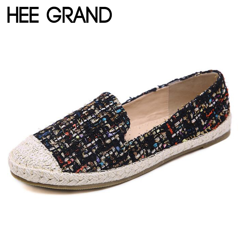 HEE GRAND 2018 New Women Flats Rome Retro Weaving Cane Grass Vamp Women Platform Slip-on Causal Fashion Mujer Shoes XWD6810 hee grand solid patent leather women oxfords british new fashion platform flats casual buckle strap ladies shoes woman xwd5833