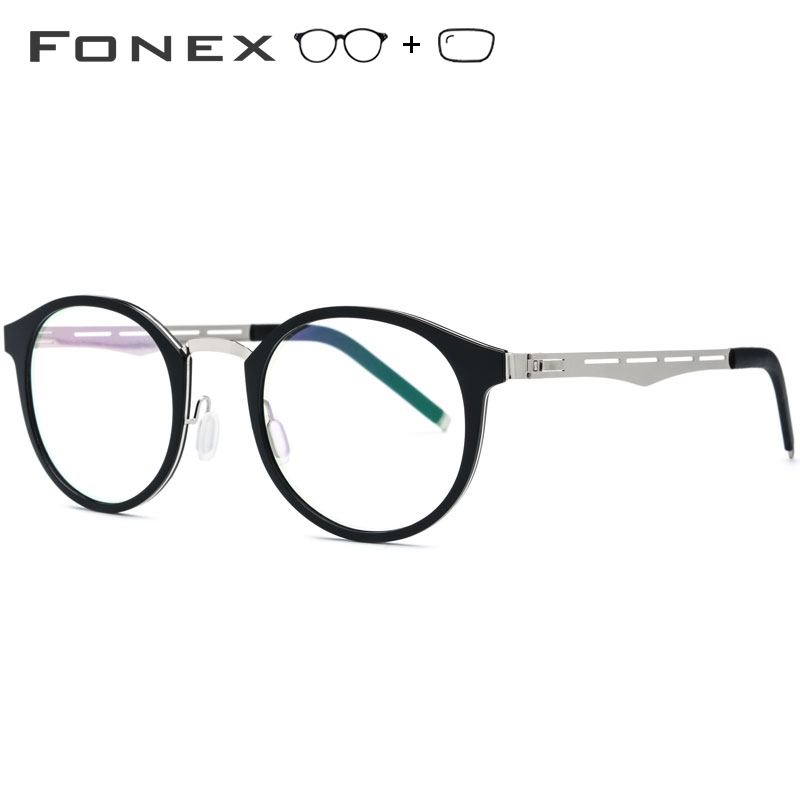 TR90 Prescription Glasses Frame Men Women Vintage Round Eyeglasses Myopia Optical Frame Spectacles Retro Screwless Eyewear