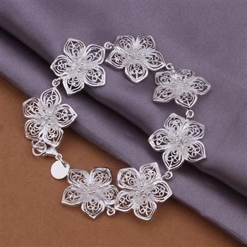 H317 925 gratis verzending zilveren armband, 925 gratis verzending zilveren sieraden / bciajtpa aywajqda