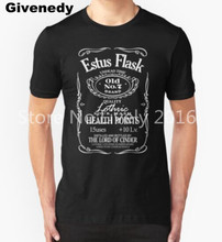 Estus Label Men T-shirt Cotton Short Sleeved Dark Souls Game Peripherals Male Summer Clothes T shirt