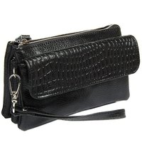 Clutch Wristlet Bag Genuine Leather Crocodile Bag Free Shipping 2014 NEW Large Capacity Strap Women Shoulder