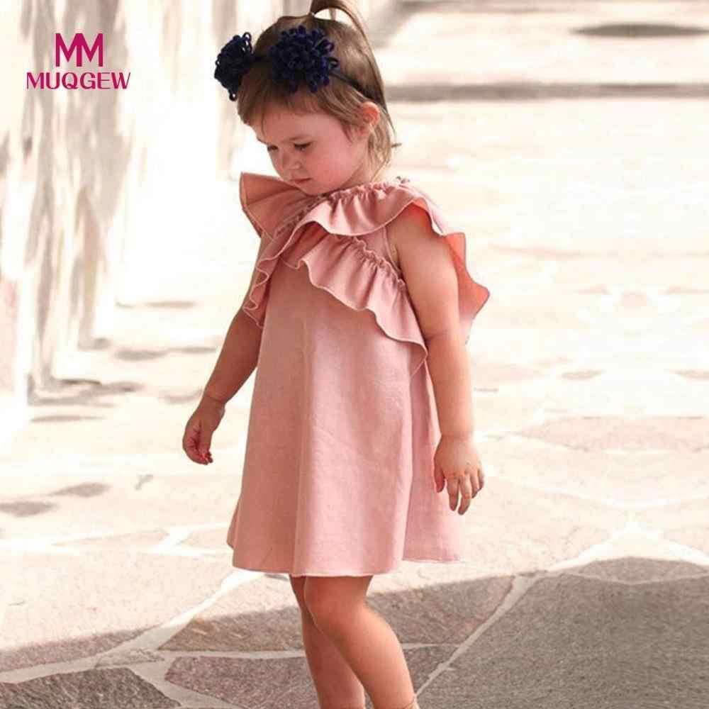 bfeaa2085 Vestido MUQGEW para niñas recién nacido bebé niña alas mariposa volantes  vestidos Casual sin mangas cuello redondo trajes ropa vestido