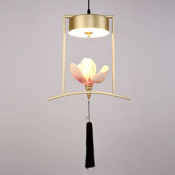 Creative new Chinese small chandelier restaurant bar single head chandelier personality Chinese style table balcony art light