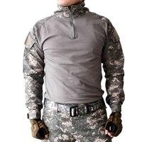 Gen2 Combat Dài Tay Áo Sơ Mi với Tấm Lót Khuỷu Tay Survival Ngụy Trang ClothesUS Quân Đội Thống Nhất Multicam Airsoft Paintball Hunting Tops