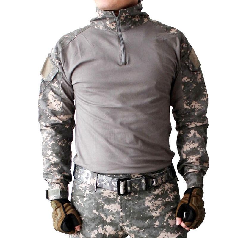 Gen2 Combat chemise à manches longues avec coudières survie Camouflage corde à linge armée uniforme Multicam Airsoft Paintball chasse hauts