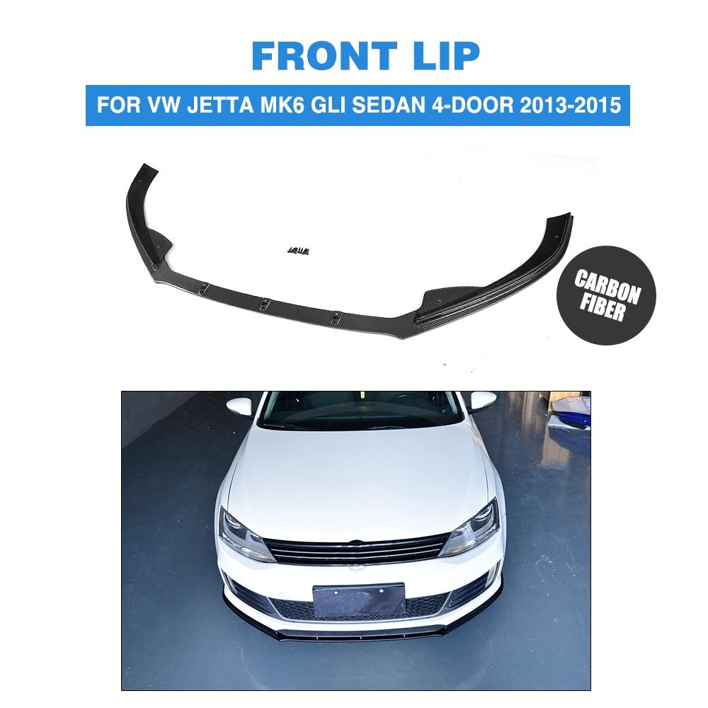 Front Lip Spoiler Chin for Volkswagen VW Jetta MK6 GLI Sedan 4-Door 2013-2015 Carbon Fiber / FRP Car Styling