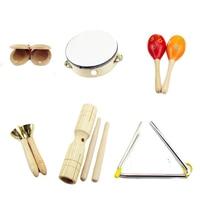 6 pcs music instruments kits children percussion musical instruments
