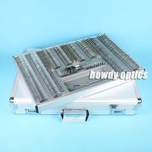 266 пробный набор линз оптический пробный объектив кейс, алюминиевый кейс металлический обод пластиковая пробная рамка