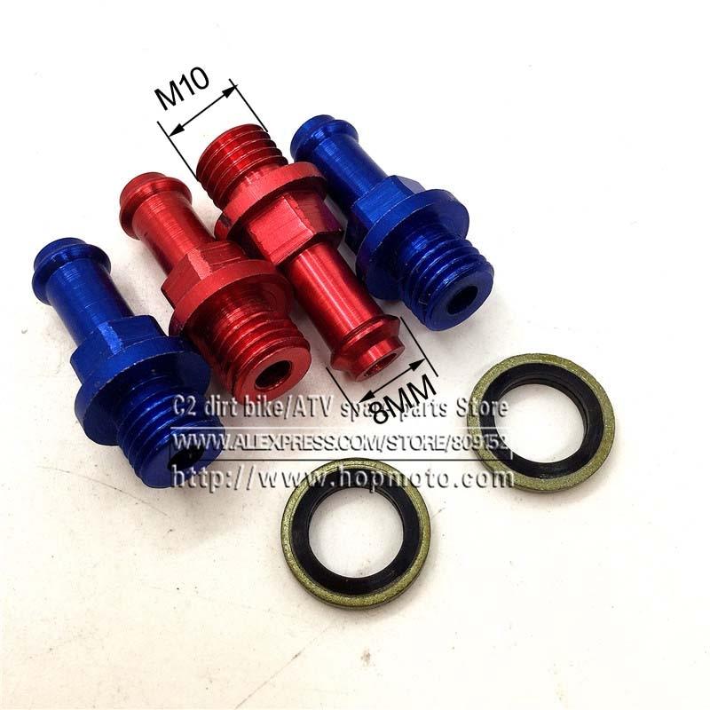 Prix pour M10 carburant tuyau boulons adapeter refroidisseur D'huile carénage connexion vis pour moteur de moto cylindre tête dirt pit bike singe Vélo