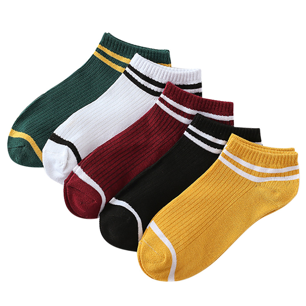 Sleeper #5001 1Pairs Unisex Stripe Comfortable Cotton   Sock   Slippers Short Ankle   Socks   22-24cm Free shipping