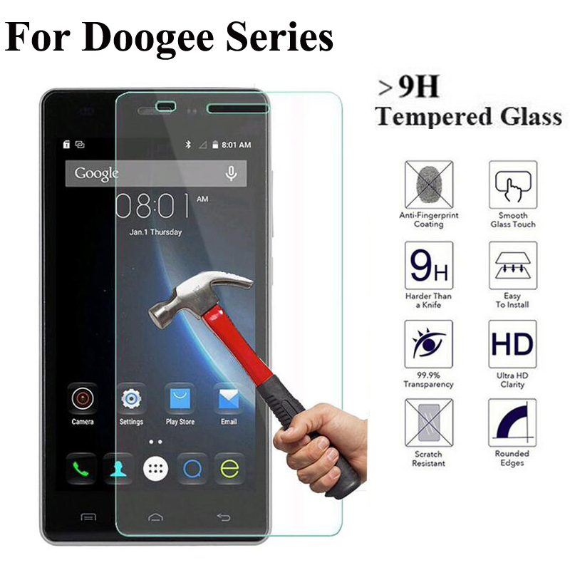 2.5D 9H Tempered Glass For DOOGEE X5 Max Pro X6 Y100 Pro Y300 Screen Protector Explosion Proof Toughened Glass Protective Film