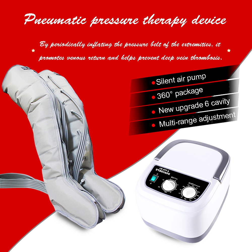 Atualizado seis-câmara de compressão de ar perna massageador braço relaxar cintura pé massageador para promover a circulação sanguínea dispositivo de perda de peso