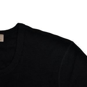 Image 3 - 男性ピュア 100% メリノウール冬長袖熱暖かいセーター下着厚いカーディガンボトムパンツセット遠征