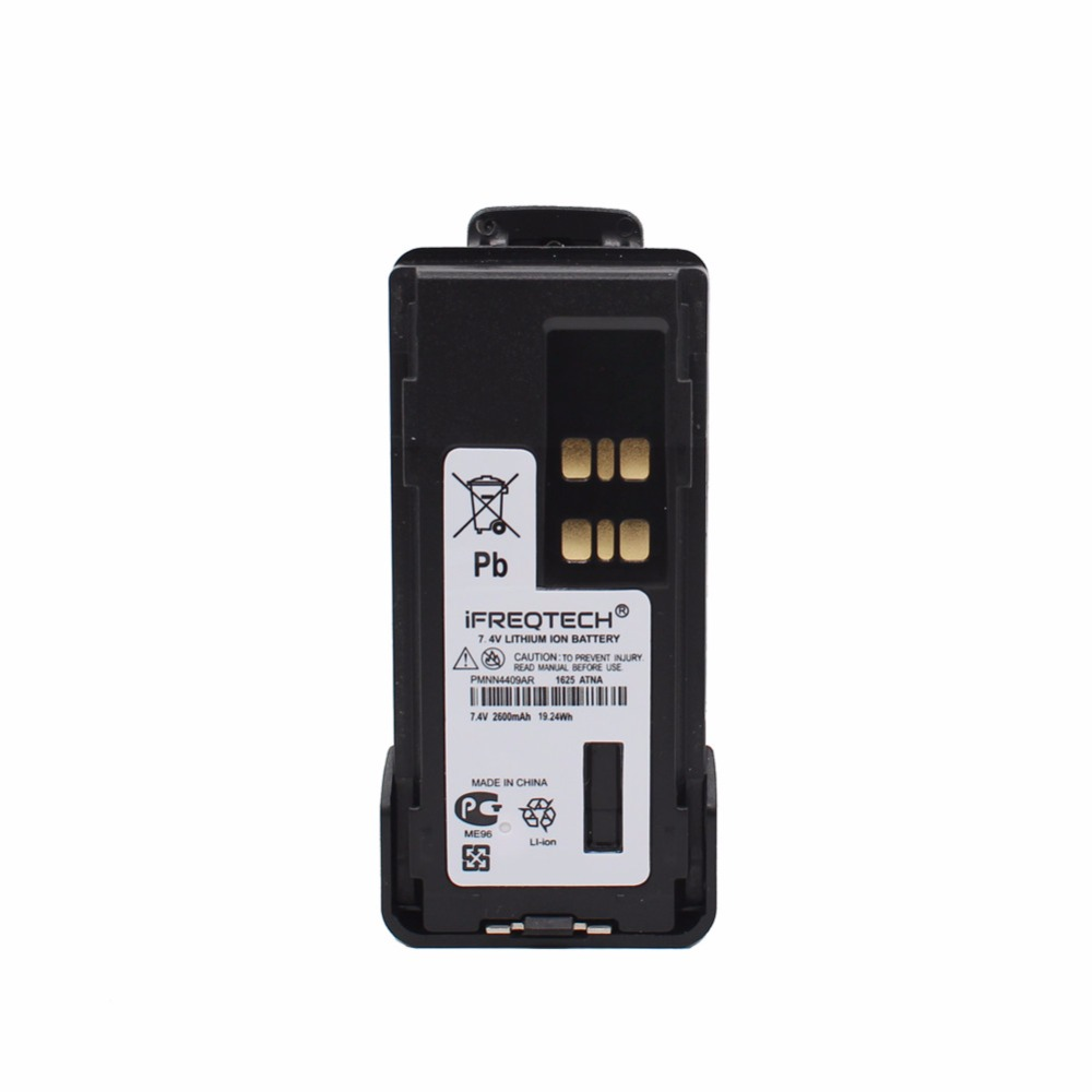 PMNN4409 2600mAh Li-Ion Battery Rechargeable With Belt Clip For MOTOTR XPR7350 XPR7550 XPR7380 XPR7580 XPR3300 XPR3500