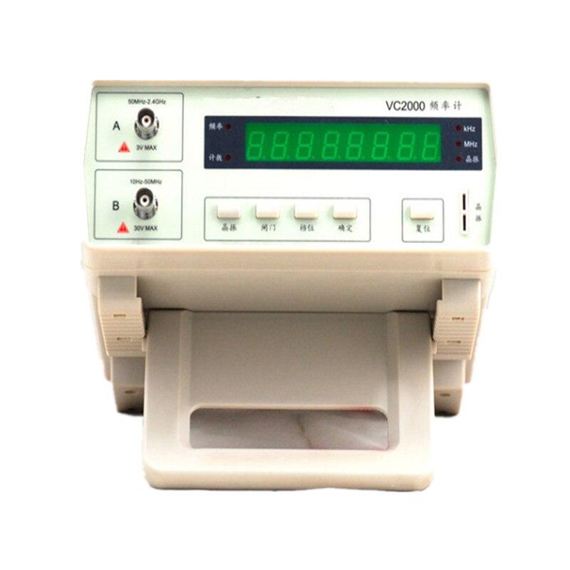 Новая Оригинальная профессиональные высокой точности диапазон частот метр 10 Гц 2,4 ГГц измерения частоты монитора цифровой счетчик тестер