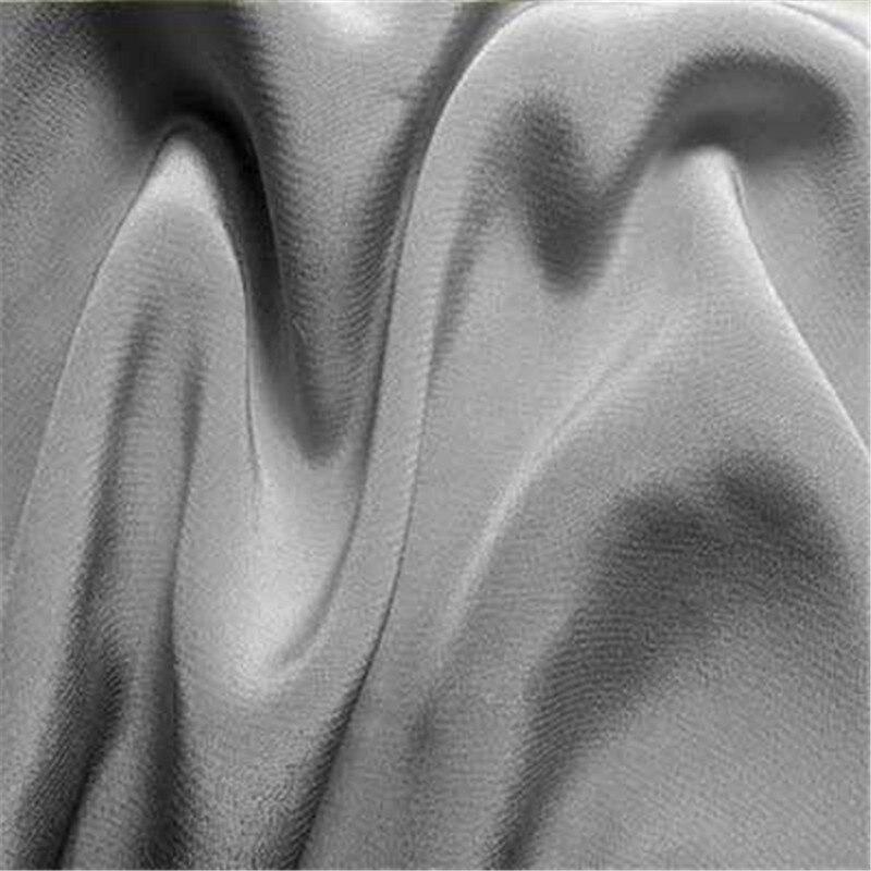 16 мм эластичный шелк крепдешин ткань шелк тутового шелкопряда 108 см ширина серебристый черный синий фиолетовый 10 метров маленькая - Цвет: 27