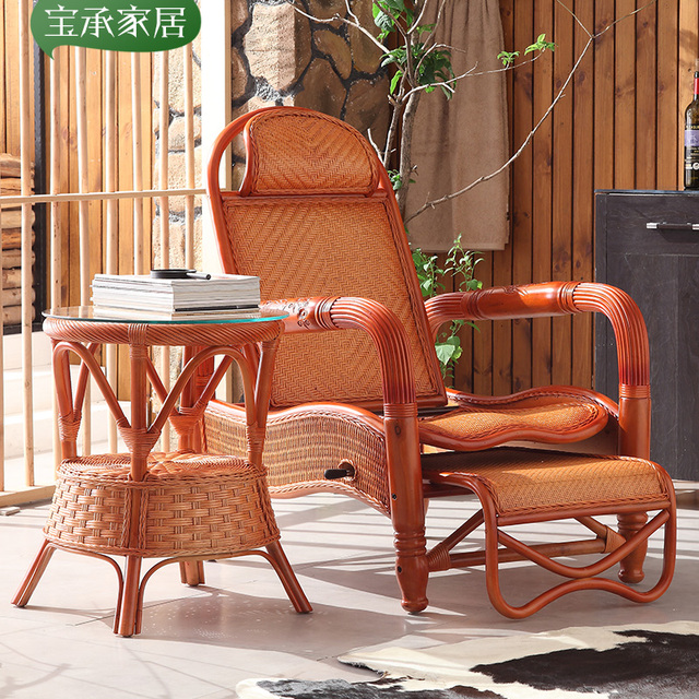 Magnificent Us 1808 0 Rattan Wood Recliner Chairs Siesta Balcony Outdoor Leisure Couches Home Child Elderly Regulator In Sun Loungers From Furniture On Machost Co Dining Chair Design Ideas Machostcouk