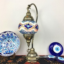Lampada da tavolo a mosaico turco vintage art deco Handcrafted lamparas de mesa mosaico di Vetro romantico letto lamparas con mosaicos