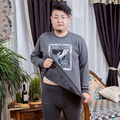 Autumn And Winter Men Fat people Extra large code Plus velvet Round neck plus thick Keep warm Underwear sets 5XL/6XL/tb111001