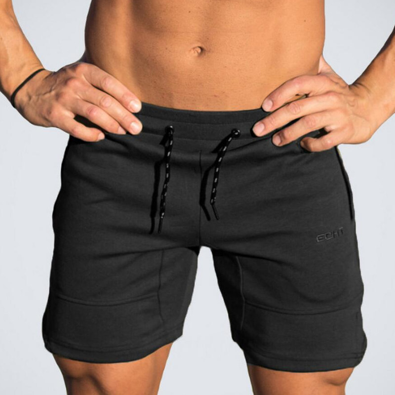 Mens Cotton Shorts Calf Length Gyms Fitness Bodybuilding Casual Joggers Workout Brand Sporting Short Pants Sweatpants