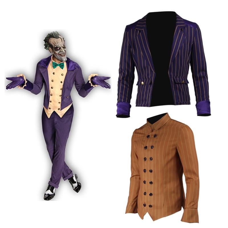 Batman Arkham Knight Joker Cosplay Costume Batman Adult Halloween Male Custom Made Accessories Only Pants Coat Vest Shirt