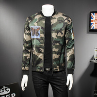 Camo Jacket Men Camouflage Fashion Casual Stand Collar Bomber Jackets Men High Quality Military Jacket Male
