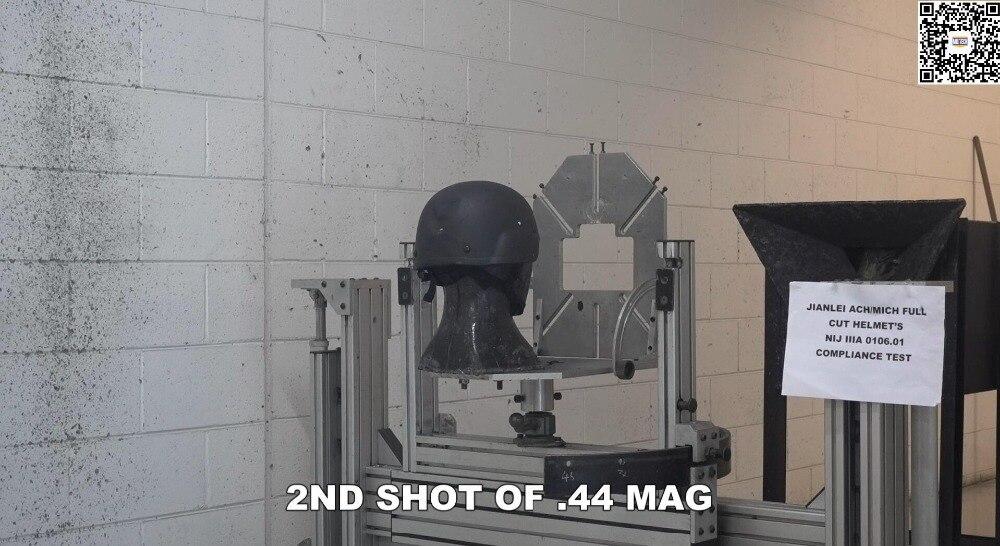 Ach/mich Helm Offizielle Labor Nij Iiia 0106,01 Übereinstimmung Prüfung Video Schutzhelm