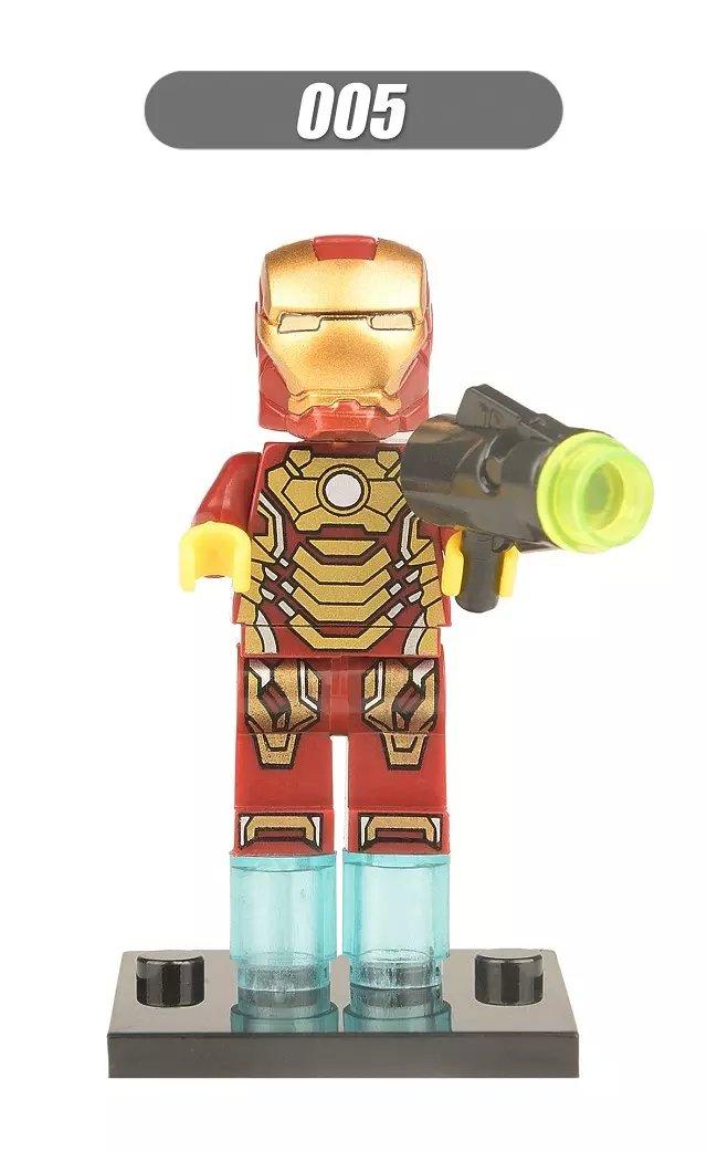 Super-Heroes-Marvel-Figures-Captain-American-The-Hulk-Spiderman-Iron-Man-LEGOINGLYS-Building-Blocks-Mini-Bricks-Children-Toys-5