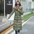 KUYOMENS New winter jacket women fashion down cotton jacket long sleeve Slim large fur collar hooded winter coat women parka