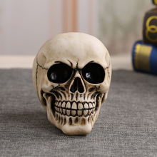 MRZOOT Resin Human Skull Skeleton Bones Medical Model Halloween Home Decoration High Quality Decorative Craft shunzaor natural large 1 1 skull human skeleton model human bone cranium human skull resin replica medical model lifesize