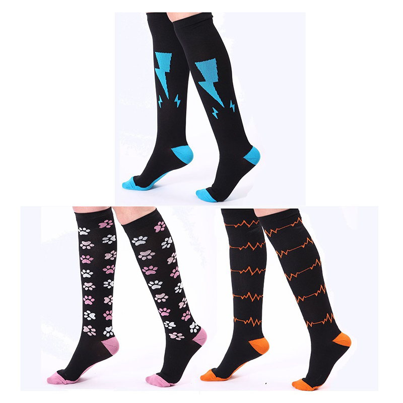 Compression   Socks   3 Pairs Pack Compression   Sock   for Women & Men - Best for Crossfit, Flight Travel AA10036