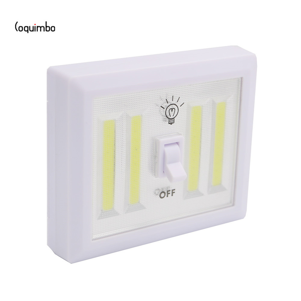 Garage Lights That Come On At Night: Coquimbo 4* COB LED Magnetic Cordless Light Switch Wall