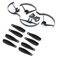 1 set Hélice + Prop Garde pour WINGSLAND S6 FPV Caméra Drone Avions Sans Pilote Pliable Quadcopter