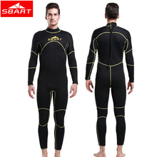 SBART new Neoprene Wetsuit Males 3MM full physique Swimming Scuba Diving Browsing Wetsuits Spearfishing Fits Surf Go well with