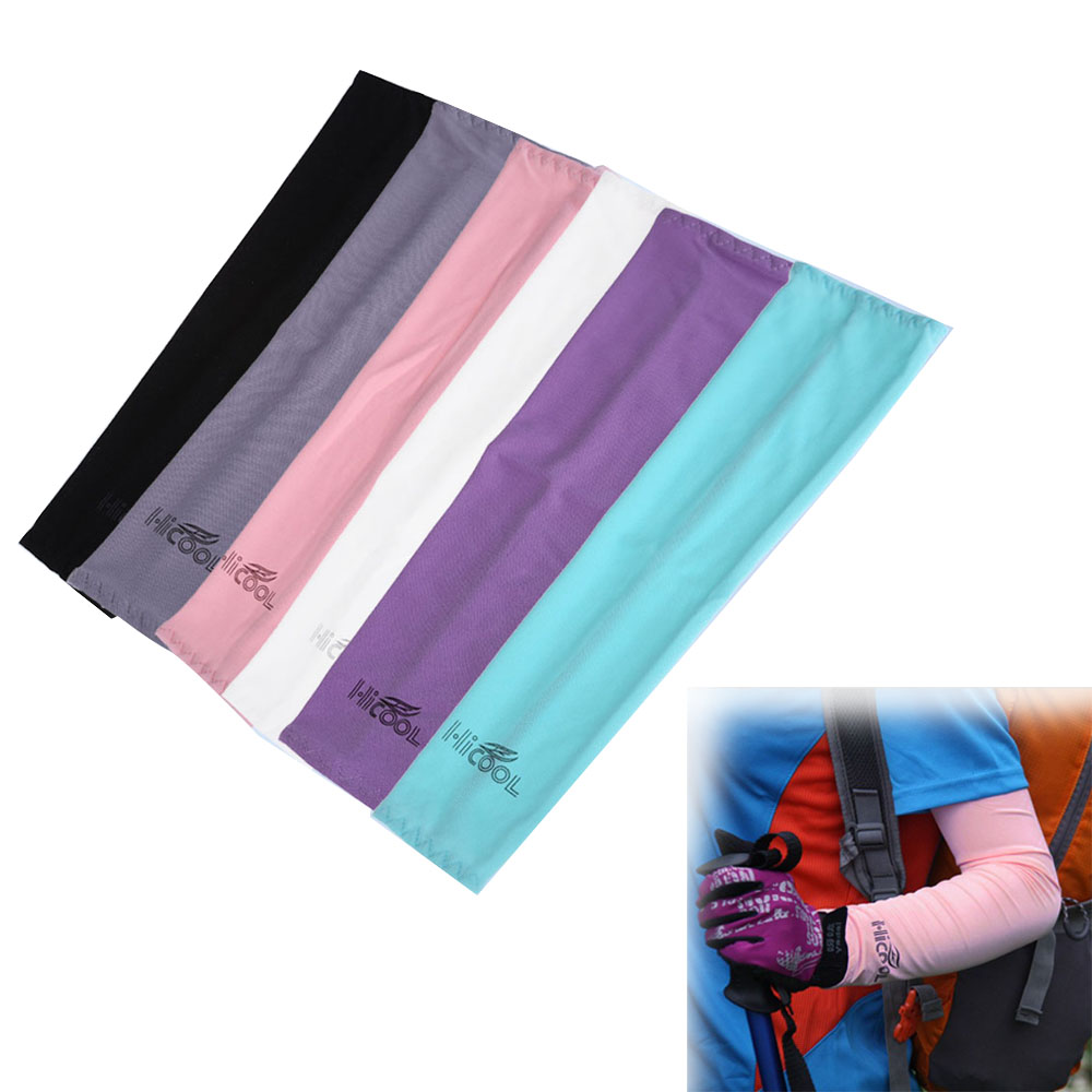 1 Pair Sports Arm Sleeves Cover Sun Protection Golf Bike Riding Cycling Cooling Arms Cover Anti UV Outdoor protection Skins sports outdoor two in one twinset jackets female sun protection clothing anti uv sun protection jacket
