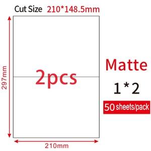 Image 4 - (50 ورقة/حزمة) JETLAND 100 قطعة نصف A4 حجم تسميات ليزر/النافثة للحبر UPS فيديكس مجاني تسميات A5 عنوان ملصقات