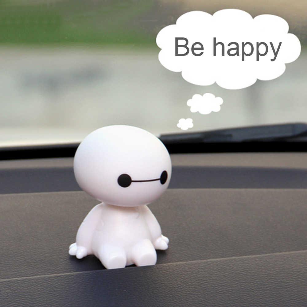 EAFC мультфильм робот Baymax качающаяся голова фигурка автомобиля украшения авто интерьера большой герой кукла игрушки для интерьера аксессуары