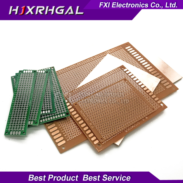 5pcs PCB 5x7 4x6 3x7 2x8 10x15 9x15 7x10 7x9 4*6cm igmopnrq Side Copper prototype pcb KIT Universal Board for Ardui